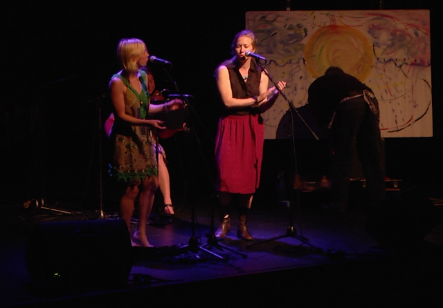 Improvisation with Dana Sipos, Andrea Bettger, Terry Pamplin and myself at last year's NACC show.